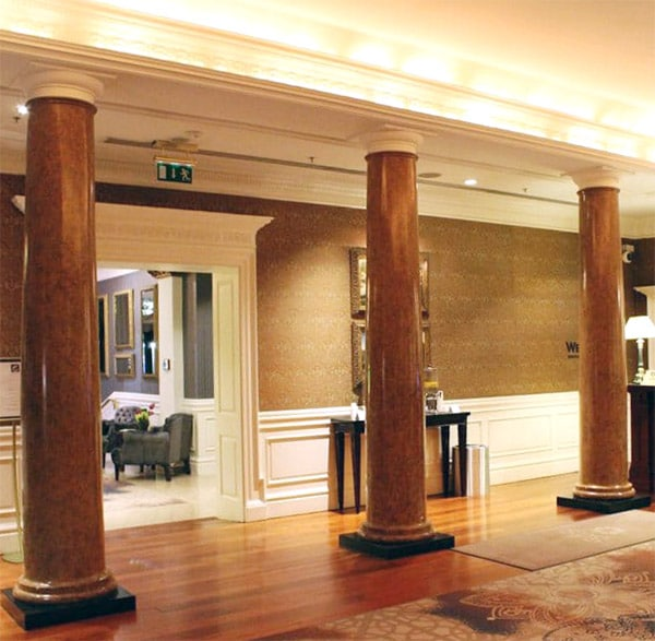 Columns in Reception Area